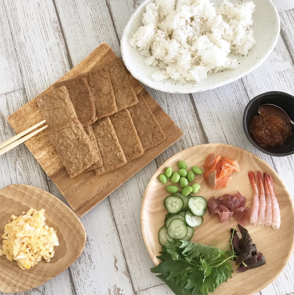 簡単可愛いパーティー向けご飯!オープンいなり寿司
